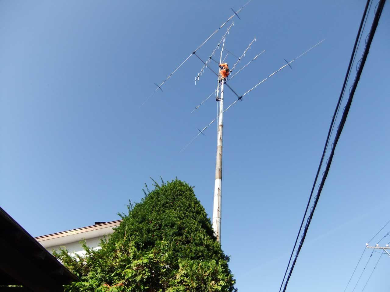 アマチュア無線のアンテナ撤去