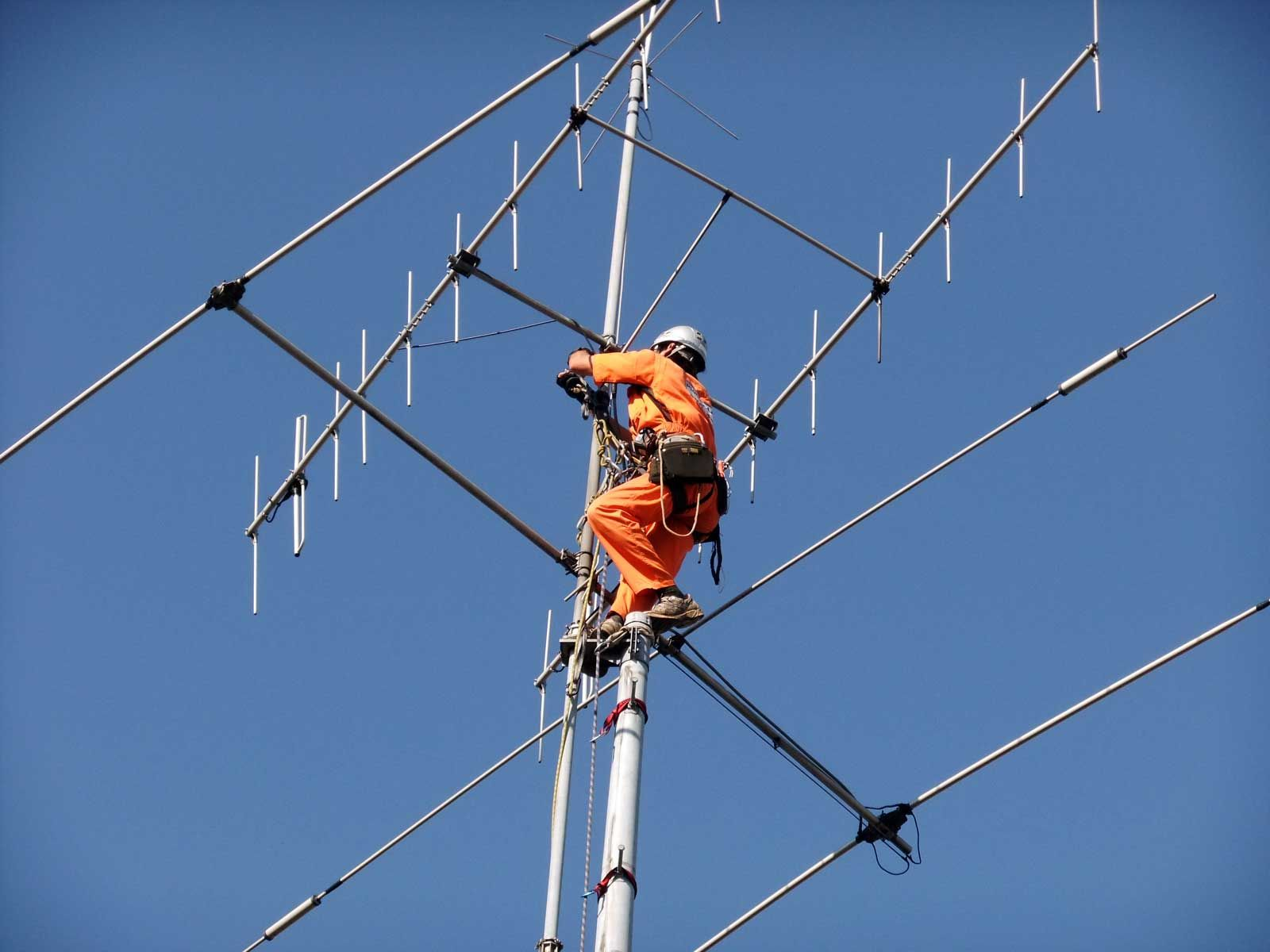 Antenna tower removal of amateur radio