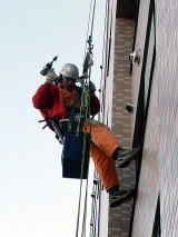 [Aerial team] is specialist rope access technology.