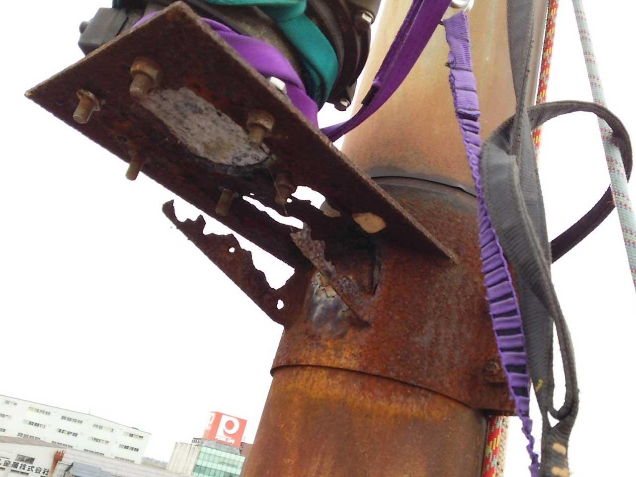 新潟県三条市でのパンザマストの解体・撤去工事