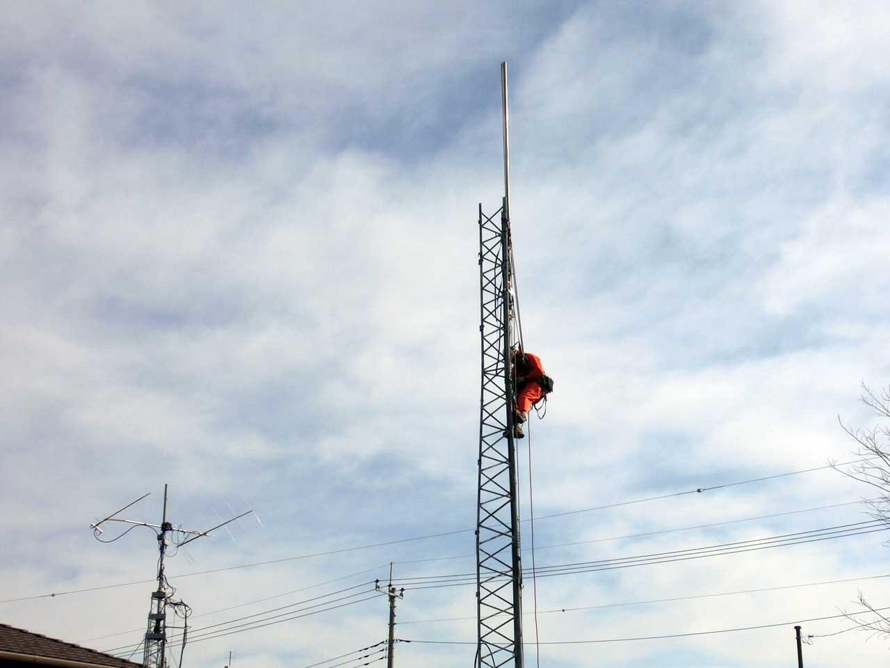栃木県小山市でクリエートタワーの短縮工事を行いました