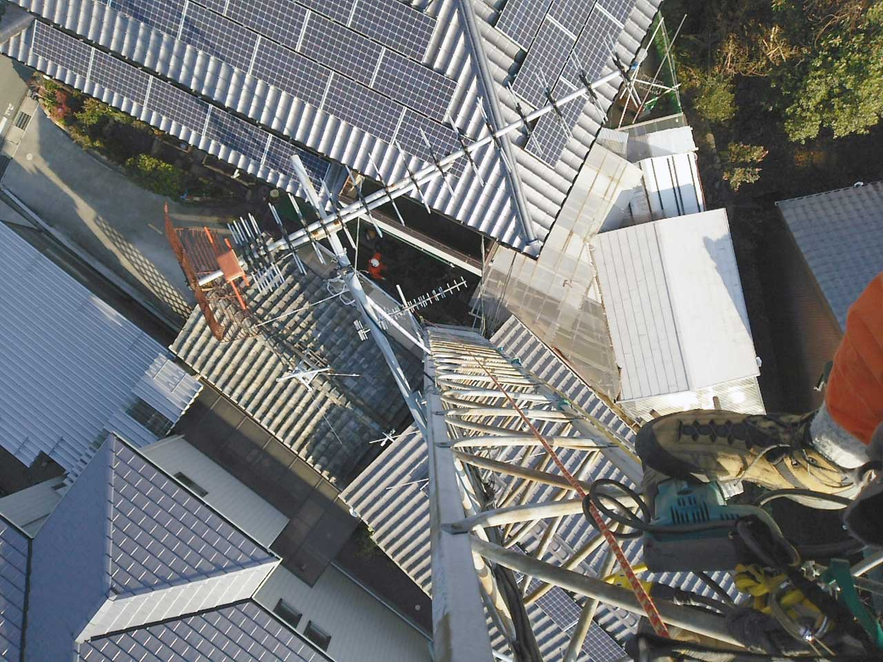 愛知県豊川市のクリエートタワー一部撤去工事