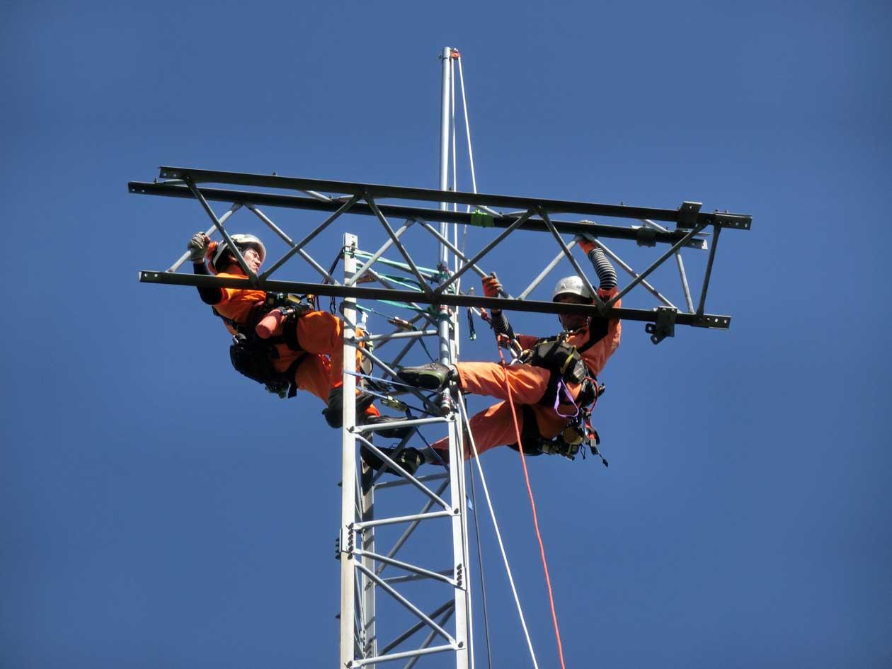 ウィントラスタワー(風力調査鉄塔)の撤去工事:福井県若狭市