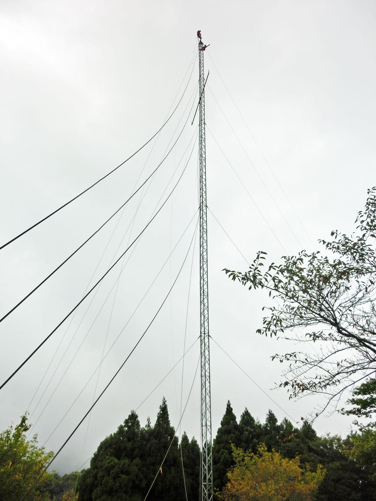 風況観測鉄塔(ウィントラス)解体工事:福井県若狭市