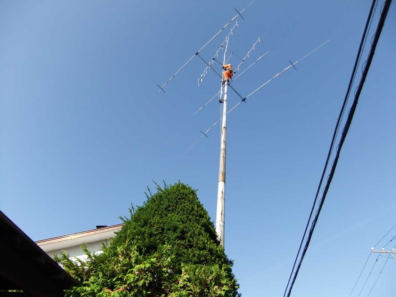 amateur radio antenna removal