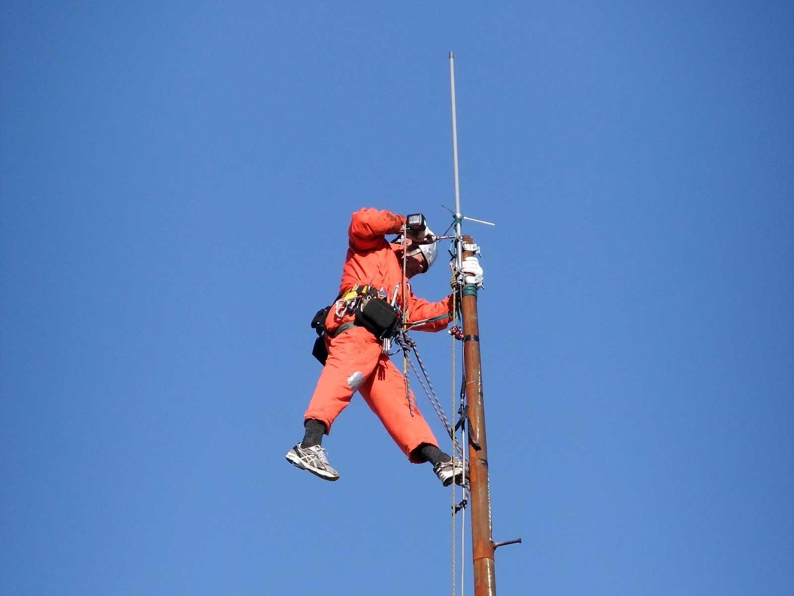 業務用務線アンテナの工事