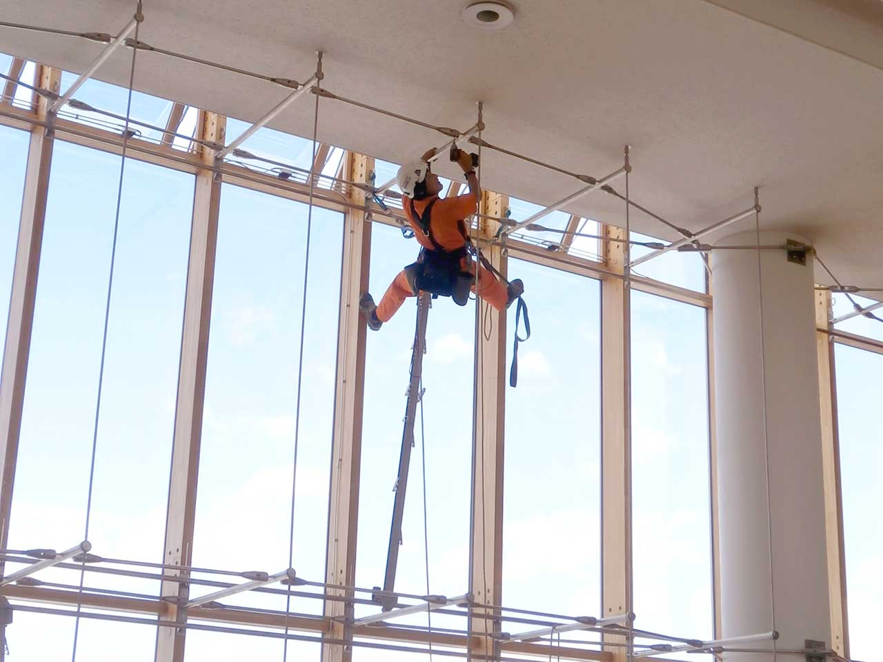 Maintenance of various structures by rope access