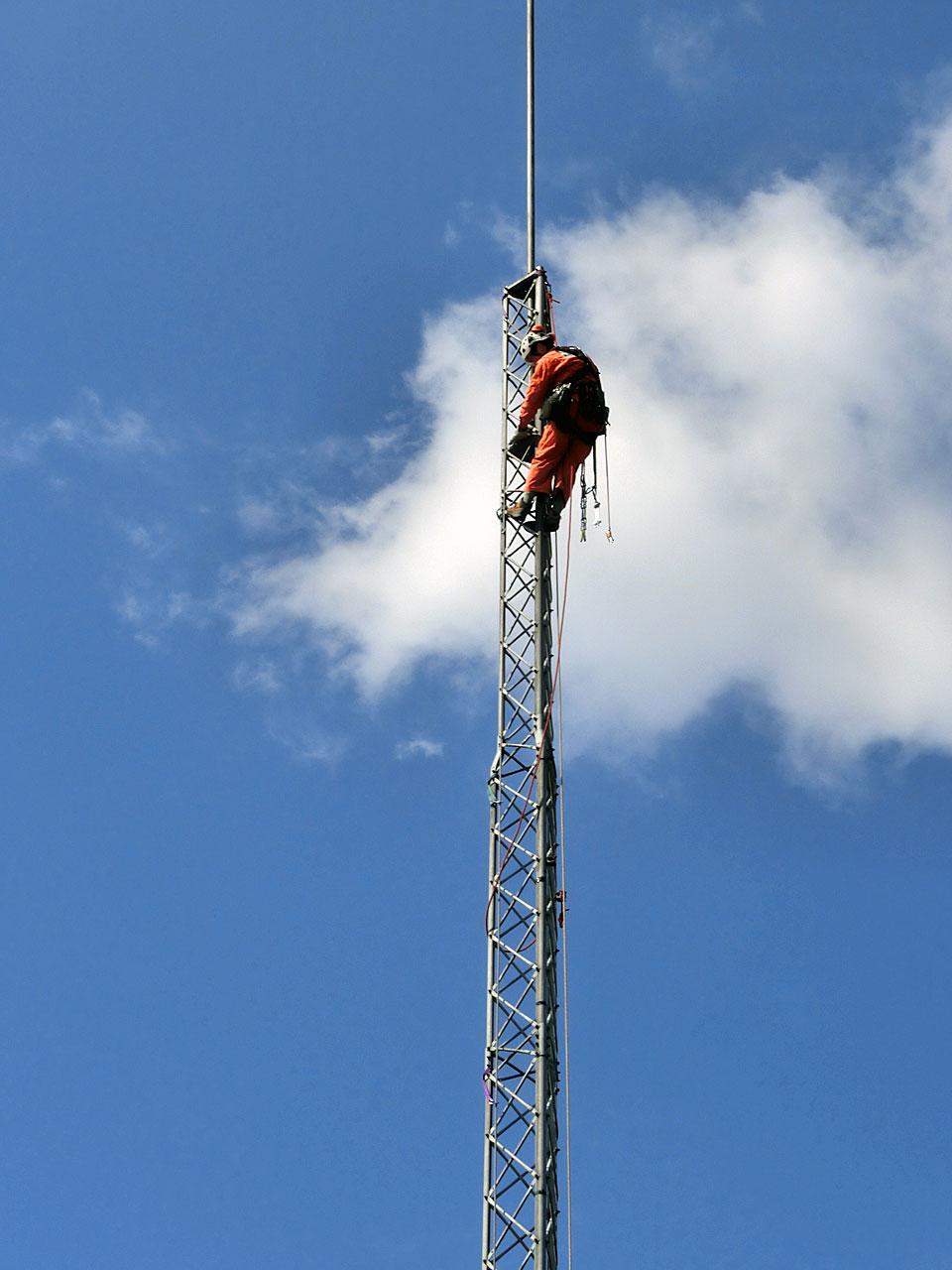 岩手県花巻市のアルインコタワー撤去工事